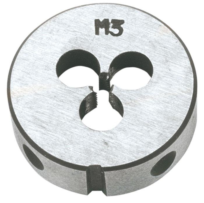 Плашка вольфрамовая Topex, М3, 25 х 9 мм08-621Плашки вольфрамовые Торех используются для нарезания метрической резьбы. Характеристики: Материал: металл. Шаг резьбы: М3. Размеры плашки: 2,5 см х 0,9 см. Размеры упаковки:13 см х 7 см х 2,5 см.