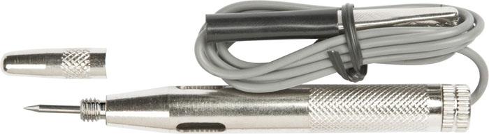 Тестер автомобильный Topex, с иглой, 6-242706 (ПО)Тестер Торех предназначен для определения полярности контактов силовых цепей (фаза-ноль), напряжения и проводимости источников переменного и постоянного тока при проведении работ. Характеристики: Материал: металл. Длина ручки: 8 см. Длина иглы: 1,5 см. Размеры упаковки:19 см х 6,5 см х 2,5 см.