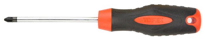 Отвертка крестовая Topex, PZ2 x 100 мм37-022Отвертка крестовая Торех предназначена для монтажа/демонтажа резьбовых соединений. Изделие изготовлено из инструментальной стали и оснащены удобной эргономичной рукояткой. Имеет магнитный наконечник. Характеристики: Материал: пластик, резина, хром-молибден. Длина отвертки: 10 см. Длина ручки: 11 см. Размеры упаковки: 21 см х 4 см х 3 см.