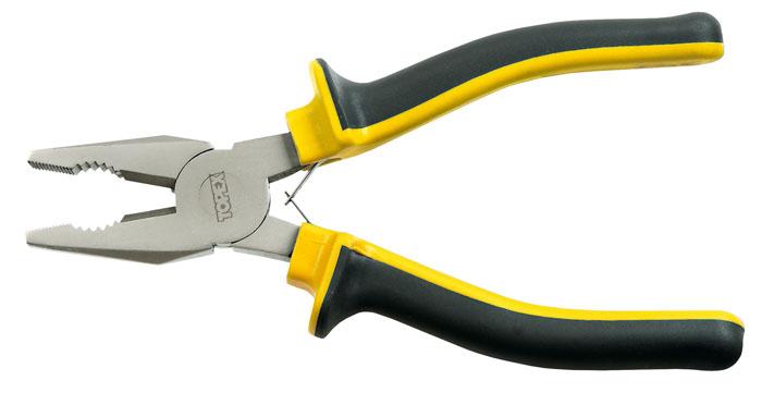 Плоскогубцы Topex, 160 мм2706 (ПО)Плоскогубцы Торех изготовлены из инструментальной стали. Они предназначены для захвата, зажима и удержания мелких деталей.Имеют эргономичные ручки. Характеристики: Материал:хром-ванадиевая сталь, пластик. Общая длина:16 см. Размер плоскогубцев: 16 см х 6 см х 3 см. Размер упаковки: 22 см х 8 см х 3 см.