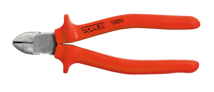 Бокорезы Topex 160 мм,до 1000 В2706 (ПО)Бокорезы Topex предназначены для резки провода из меди, алюминия и других цветных металлов. Изделие изготовлено из инструментальной стали и оснащены удобными эргономичными рукоятками. Режут провода под напряжением до 1000 В. Характеристики: Материал: сталь, резина. Длина: 16 см. Размер упаковки: 16 см х 6 см х 2 см.