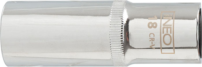 Головка торцевая Neo, удлиненная, 1/2, 27 мм98293777Головка торцевая Neo применяется для монтажа/демлнтажа резьбовых соединений. Станет отличным помощником монтажнику или владельцу авто. Этот инструмент обеспечит надежную фиксацию на гранях крепежа. Характеристики: Материал: хром-ванадий. Диаметр головки: 27 мм. Размер переходника: 1/2. Размер упаковки:14 см х 4,5 см х 3,5 см.