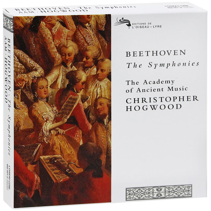 Кристофер Хогвуд,The Academy Of Ancient Music Christopher Hogwood, The Academy Of Ancient Music. Beethoven. The Symphonies (5 CD) philips hr 1625 00 daily collection белый красный