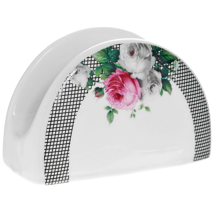 Салфетница Сафир, цвет: белыйFS-91909Салфетница Сафир, выполненная из высококачественного фарфора, оформлена изображением букета роз. Такая салфетница прекрасно подойдет для вашей кухни и великолепно украсит стол. Оригинальная салфетница Сафир станет отличным подарком для друзей и близких. Характеристики:Материал: фарфор. Цвет: белый. Размер: 10,5 см х 6,5 см х 4,5 см. Размер упаковки: 11 см х 5 см х 7 см. Артикул: 222161B.