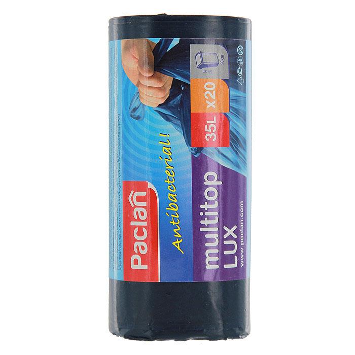 Пакеты для мусора Multi-Top Lux, цвет: синий, 35 л, 20 шт134460Пакеты для мусора Multi-Top Lux изготовлены из очень прочного хозяйственного полиэтилена. Они предназначены для вывозки и утилизации скопившего мусора.Характеристики:Материал:полиэтилен. Объем:35 л. Цвет:синий. Количество:20 шт. Размер:64 см х 50 см. Артикул:134460.
