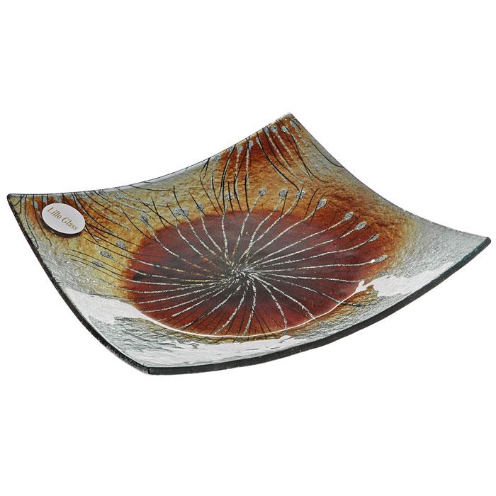 Блюдо Lillo Glass, 19 см х 19 см115510Блюдо Lillo Glass изготовлено из стекла квадратной формы. Такое блюдо станет достойным украшением вашего интерьера и придаст ему нотки необычности и изысканности.Блюдо можно преподнести в качестве оригинального подарка или сувенира. Характеристики:Материал: стекло. Цвет: серый, коричневый. Размер блюда:19 см х 19 см х 2 см. Размер упаковки: 20,5 см х 20,5 см х 4,5 см. Артикул: LIL 1280-28.