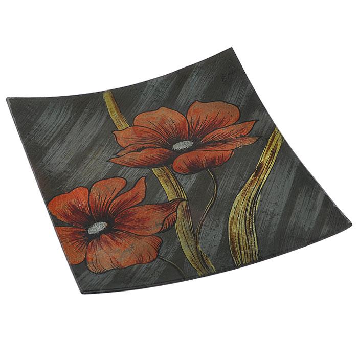 Блюдо Lillo Glass, цвет: серый, оранжевый, 33,5 см х 33 см х 3,5 см115510Блюдо Lillo Glass, изготовленное из стекла, оформлено изображением оранжевых цветов с серебристыми блестками. Такое блюдо сочетает в себе изысканный дизайн с максимальной функциональностью. Красочность оформления придется по вкусу тем, кто предпочитает утонченность и изящность.Оригинальное блюдо украсит сервировку вашего стола и подчеркнет прекрасный вкус хозяйки, а также станет отличным подарком. Характеристики:Материал: стекло. Цвет: серый, оранжевый. Размер блюда:33,5 см х 33 см х 3,5 см. Размер упаковки: 34 см х 33,5 см х 4,5 см. Артикул: 4601137130149.