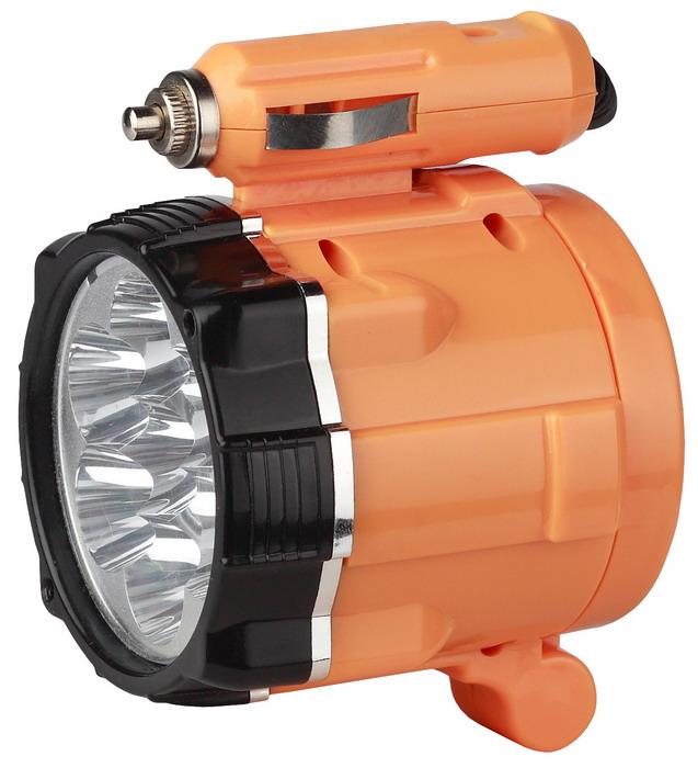 Светодиодный автомобильный фонарь ЭРА A3M, цвет: оранжевый67743Компактный автомобильный светодиодный фонарь-переноска ЭРА A3M. В его конструкции – 7 белых светодиодов нового поколения. В комплекте предусмотрен шнур для питания от прикуривателя и магнит для фиксации устройства под различными углами. Характеристики:Материал:пластик, металл. Размер упаковки: 27 см х 17 см х 7 см. Размер фонаря: 8 см х 7 см х 6 см.