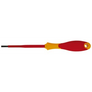 Отвертка плоская Topex, 6,5 мм х 150 мм27258-25Отвертка плоская Торех предназначена для монтажа/демонтажа резьбовых соединений. Характеристики: Материал: пластик, резина, хром-ванадий. Длина отвертки: 15 см. Длина ручки: 11 см. Ширина жала: 6,5 мм. Размеры упаковки: 26 см х 4 см х 3 см