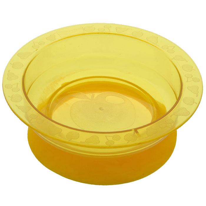 Тарелка на присоске Курносики, цвет: желтый17308Пластиковая тарелочка Курносики желтого цвета с удобной присоской, идеально подойдет для кормления малыша, и самостоятельного приема им пищи. Специальное резиновое кольцо-присоска фиксирует тарелочку на столе, благодаря чему она не упадет, еда не прольется, а ваш малыш будет доволен. Характеристики:Материал: пластик, ПВХ. Рекомендуемый возраст: от 5 месяцев. Высота тарелки: 5 см. Внешний диаметр тарелки: 17,5 см. Внутренний диаметр тарелки: 14 см Диаметр присоски: 14 см.