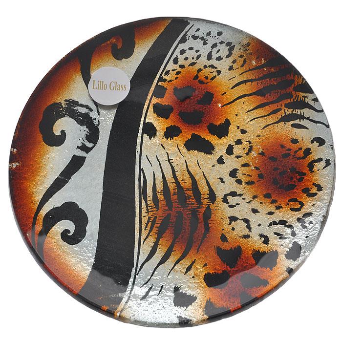 Блюдо Lillo Glass, диаметр 18 см. LIL 1280-2115610Оригинальное блюдо Lillo Glass, изготовленное из высококачественного стекла, оформлено оригинальным рисунком леопардовой расцветки. Такое блюдо станет достойным украшением праздничного стола или интерьера и придаст нотки необычности и изысканности.Блюдо можно преподнести в качестве оригинального подарка или сувенира. Характеристики:Материал: стекло. Размер блюда:18 см х 18 см х 1 см. Размер упаковки: 18 см х 18 см х 2 см. Артикул: LIL 1280-2.