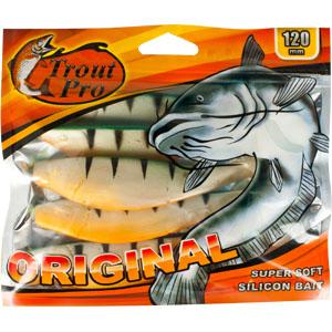 Риппер Trout Pro Original, длина 12 см, 5 шт. 3532435187Приманка предназначена для джиговой ловли хищной рыбы: окуня, судака, щуки. Специальная пластина придает приманке колебательные движения, усиливая ее сходство с живой рыбкой. Характеристики:Длина: 12 см. Цвет тела:142 (зеленый, перламутровый с полосками). Материал: эластичный полимер. Размер упаковки: 16,5 см х 14 см х 1,2 см. Производитель: Китай. Артикул: 35324.