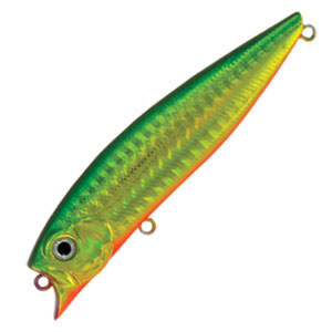 Воблер Tsuribito Jerk POP, длина 9 см, вес 11 г. 90F/036LJME57-107Воблер Tsuribito Jerk POP необычная, но очень результативная приманка. При небольших рывках отлично имитирует подраненную рыбку. При остановках приманка выходит на поверхность, а при рывках уходит на полметра. Эти качества позволяют эффективно ловить рыбу в мелководных заливах над зарослями травы. Характеристики:Материал: металл, пластик. Длина: 9 см. Вес: 11 г. Цвет тела:036. Рабочая глубина: 0,5 м. Плавучесть - плавающий. Размер упаковки: 16,3 см х 4 см х 2,8 см. Производитель: Япония. Артикул:90F/036.