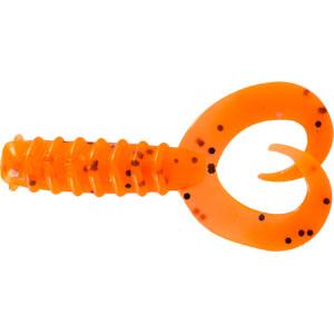 Твистер Trout Pro Diplura, длина 6 см, 10 шт. 3545835359Приманка предназначена для джиговой ловли хищной рыбы: окуня, щуки, судака. Двухвостый твистер создает визуальный объем, увеличивая эффект вибрации с помощью двух эластичных хвостов. Приманка наиболее эффективна при ловле малоактивной рыбы. Характеристики:Длина: 6 см. Цвет тела: 4 (оранжевый с черными вкраплениями). Материал: эластичный полимер. Размер упаковки: 16,5 см х 14,4 см х 1 см. Производитель: Китай. Артикул: 35458.