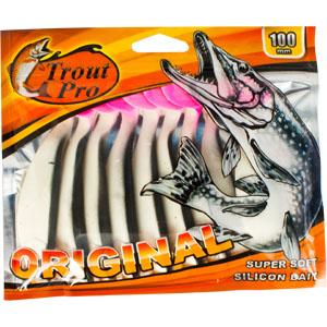 Риппер Trout Pro Original, длина 10 см, 10 шт. 3530228872Приманка предназначена для джиговой ловли хищной рыбы: окуня, судака, щуки. Специальная пластина придает приманке колебательные движения, усиливая ее сходство с живой рыбкой. Характеристики:Длина: 10 см. Цвет тела:151. Материал: эластичный полимер. Размер упаковки: 16,8 см х 14,2 см х 0,9 см. Производитель: Китай. Артикул: 35302.