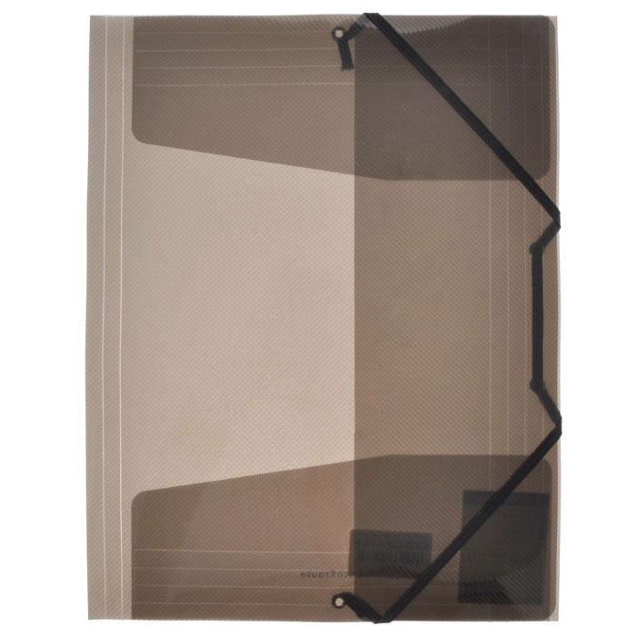 Папка на резинке Erich Krause Diagonal, цвет: черный14392Папка Erich Krause Diagonal с тремя клапанами - удобный и практичный офисный инструмент, предназначенный для хранения и транспортировки рабочих бумаг и документов формата А4. Папка изготовлена из полупрозрачного глянцевого пластикасрифленой поверхностью и закрывается при помощи угловых резинок. Согнув клапаны по линии биговки, можно легко увеличить объем папки, что позволит вместить большее количество документов. С такой папкой ваши документы всегда будут в полном порядке!Характеристики:Материал: пластик, текстиль. Цвет: черный. Размер папки: 32 см х 22,5 см x 3,5 см. Изготовитель: Китай.