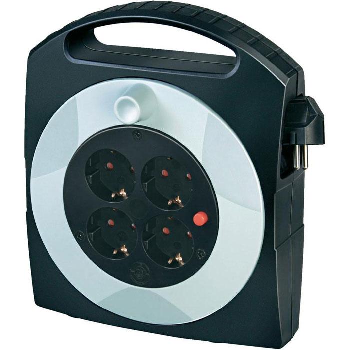 Удлинитель на катушке Primera-Line Box универсальный, 4 гнезда, 10 м, цвет: черный с серым99484Универсальный удлинитель на катушке Primera-Line Box с защитой от перегревания и стандартным расширительным гнездом. Имеется компактная ручка для переноса или подвешивания. Так же предусмотрена защита от детей.
