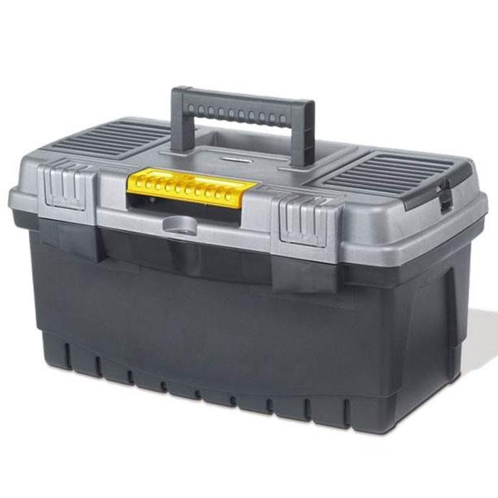Ящик для инструментов Keter Hammer, замок Quick Latch, 1980621Ящик для инструментов Keter предназначен для хранения и транспортировки инструментов. В нем можно разместить все необходимые для работы предметы, тем самым создав свой индивидуальный набор инструментов и аксессуаров. В нутри расположен съемный лоток. На крышке ящика расположены 2 органайзера для размещения различных мелочей. Высокая вместительность. Новая система замков Quick Latch, обеспечивающая бысрый доступ к содержимому. Характеристики: Материал: полипропилен. Размеры ящика: 48,6 см х 26,2 см х 25 см. Размеры лотка:46 см х 20 см х 5 см. Размеры органайзера:2 по 15 см х 10 см х 4,5 см. Глубина ящика:18 см. Размеры упаковки:48,6 см х 26,2 см х 25 см.УВАЖАЕМЫЕ КЛИЕНТЫ!Обращаем ваше внимание на допустимые незначительные изменения в дизайне товара - некоторые детали могут отличаться по форме (цвету) от товара, изображенного на фотографии.