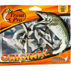 Риппер Trout Pro Original, длина 4 см, 20 шт. 35229PGPS7797CIS08GBNVПриманка предназначена для джиговой ловли хищной рыбы: окуня, судака, щуки. Специальная пластина придает приманке колебательные движения, усиливая ее сходство с живой рыбкой. Характеристики:Длина: 4 см. Цвет тела: 157 (перламутровый с вкраплением красных блесток). Материал: эластичный полимер. Размер упаковки: 16,8 см х 14 см х 0,4 см. Производитель: Китай. Артикул: 35229.