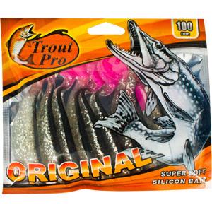 Риппер Trout Pro Original, длина 10 см, 10 шт. 3529628911Приманка предназначена для джиговой ловли хищной рыбы: окуня, судака, щуки. Специальная пластина придает приманке колебательные движения, усиливая ее сходство с живой рыбкой. Характеристики:Длина: 10 см. Цвет тела:150. Материал: эластичный полимер. Размер упаковки: 16,8 см х 14,2 см х 0,9 см. Производитель: Китай. Артикул: 35296.
