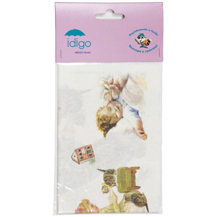 """Декупажная карта на рисовой бумаге """"Детство"""" позволит вам создать удивительные образы на изделиях из керамики, стекла, фарфора, ткани, дерева, картона, металла или пластика. Выбрав понравившийся мотив декупажной карты, вы сможете создать оригинальные шкатулки, рамки, вазы, подставки, тарелки и многое другое. Для этого нужно нанести на чистую поверхность слой клея или лака для декупажа, разложить нужный вырезанный фрагмент декупажной карты и кисточкой разгладить рисунок по направлению от центра к краям, во избежание образования пузырьков воздуха. Сверху можно нанести еще один закрепляющий слой клея или лака. Рисунки на рисовой бумаге хорошо ложатся как на ровные, так и на рельефные и объемные поверхности и ткань. Полученные изделия станут прекрасным украшением вашего интерьера или послужат замечательным подарком для близких и друзей. Декупаж - это декоративная техника, заключающаяся в филигранном вырезании изображений из различных материалов: бумаги, дерева, ткани, кожи...."""