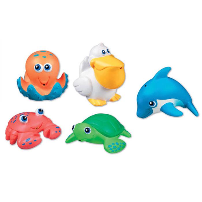 Набор игрушек для ванны Munchkin Морские животные, 5 шт munchkin набор игрушек для ванны морские животные 8 шт