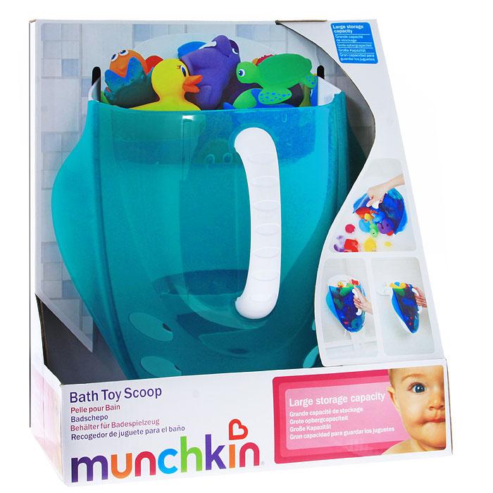 """Ковшик для ванной """"Munchkin"""" обеспечит быстрый и простой способ собрать игрушки для купания. Для этого необходимо зачерпнуть ковшом игрушки из ванной, ополоснуть под струей воды, а благодаря отверстиям в нижней части вода быстро вытечет из него. Благодаря прозрачному корпусу вы можете видеть, какие игрушки находятся внутри. Удобный крючок для подвешивания позволит легко подвесить изделие в удобном месте, чтобы хранить в нем игрушки для следующего купания! Крючок крепиться при помощи клейких полосок (входят в комплект). Детский ковшик для ванной """"Munchkin"""" поможет поддерживать порядок, организовывать пространство и облегчит уход за детьми."""
