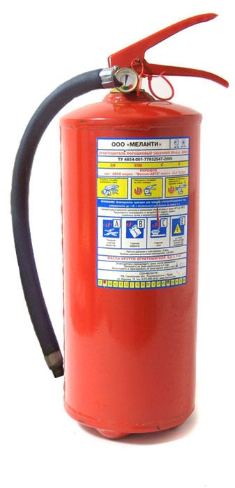 Огнетушитель порошковый ОП-4 с манометром, 4 л67359Огнетушитель ОП-4 с манометром - порошковые огнетушитель заряженный огнетушащим порошком и закаченный газом (воздух, азот, углекислота) до давления 16 атм. Предназначен для тушения пожаров класса А, В, С или ВС в зависимости от типа применяемого порошка, а также электроустановок, находящихся под напряжением до 1000 ВС. Снабжен запорным устройствам, обеспечивающим свободное открытие и закрытие простым движением руки. Манометр установленный на головке огнетушителя и показывающий степень его работоспособности, является большим преимуществом перед огнетушителями со встроенным источником давления. Эксплуатируется при температуре от -40 до +50 С. Перезарядка — один раз в пять лет. Характеристики: Время выхода заряда: не менее 10 сек. Длина выброса струи: не менее 3 м. Масса заряда: 4 +/- 0,2 кг/л. Рабочее давление: 1,4 +/- 0,2 Мпа. Огнетушащая способность по классу А: 2А. Огнетушащая способность по классу В: 55B. Огнетушащее вещество: порошок огнетушащий 40% АВС. Температура эксплуатации: -40 до +50°C. Срок службы: 10 лет. Размеры: 47 см х 21 см х 16 см. Размеры упаковки: 47 см х 21 см х 16 см. Артикул:5218.