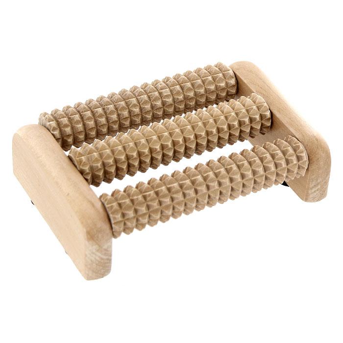 Массажер для ног Банные штучки, деревянный. 40160K100Массажер для ног Банные штучки, выполненный из дерева, снимает усталость, улучшает общее состояние организма, активирует кровообращение. Благотворно влияет на различные внутренние органы за счет воздействия на нервные окончания, обеспечивая их активную деятельность и нормализацию обмена веществ.Характеристики:Материал: дерево. Размер массажера: 13,5 см х 9 см х 3,5 см. Размер упаковки: 15 см х 13,5 см х 4,5 см. Изготовитель: Китай. Артикул: 40160.