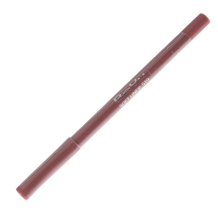 BeYu Карандаш для губ Soft Liner, универсальный, тон №519, 1,2 г2910Мягкая текстура карандаша Soft Liner легко и приятно наносится на нежную кожу губ. Благодаря стойкой формуле карандаш фиксируется уже через минуту и становится водостойким. При этом при необходимости он легко растушевывается. Широкая цветовая палитра дает возможность идеально подобрать карандаш к помаде, а удобная пластиковая упаковка защищает грифель от сколов. Товар сертифицирован.