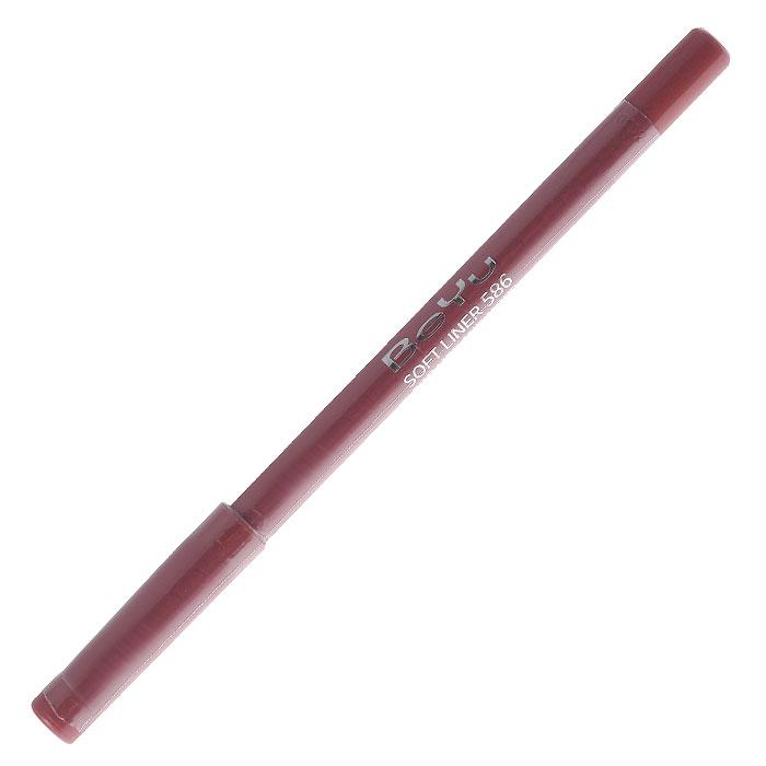 BeYu Карандаш для губ Soft Liner, универсальный, тон №586, 1,2 г497.9Мягкая текстура карандаша Soft Liner легко и приятно наносится на нежную кожу губ. Благодаря стойкой формуле карандаш фиксируется уже через минуту и становится водостойким. При этом при необходимости он легко растушевывается. Широкая цветовая палитра дает возможность идеально подобрать карандаш к помаде, а удобная пластиковая упаковка защищает грифель от сколов. Товар сертифицирован.