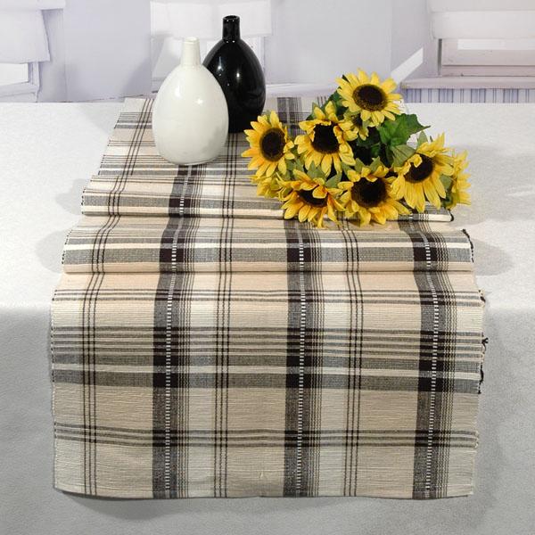 Дорожка для декорирования стола Schaefer, цвет: бежевый, черный, 50 х 140 см гардина schaefer на петлях цвет оранжевый черный 140 см х 245 см 06929 596