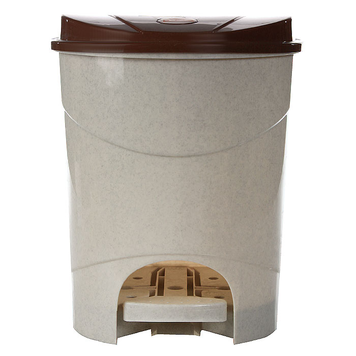 Контейнер для мусора Idea,с педалью, 11 л, цвет: бежевый, коричневый. М2891K100Контейнер для мусора с педалью и крышкой удобен в использовании. Контейнер выполнен из пластика. Характеристики: Материал: пластик. Объем: 11 л. Цвет: бежевый, коричневый. Размер контейнера (с крышкой): 26,5 см х 25 см х 32,5 см.Артикул: М2891.