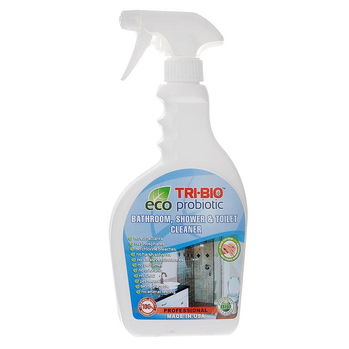Биосредство для ванных комнат и туалетов Tri-Bio, 420 мл68/5/4Биосредство Tri-Bio предназначено для чистки раковин, ванн, душевых кабин, плитки, унитазов и др. Эффективно чистит керамику, фарфор, стеклопластик, а также нержавеющую сталь, не повреждая поверхность. Ликвидирует неприятные запахи, устраняя их причину. Легко проникает в швы, позволяет обеспечить более длительный контроль запаха и более глубокую чистку. Удаляет известковый налет!Особенности биосредства Tri-Bio для здоровья:Без фосфатов, без растворителей, без хлора отбеливающих веществ, без абразивных веществ, без поверхностно-активных веществ (ПАВ), без отдушек, без красителей, без токсичных веществ, нейтральный pH, гипоаллергенно. Безопасная альтернатива химическим аналогам. Присвоен сертификат ECO GREEN. Рекомендуется для людей склонных к аллергическим реакциям и страдающих астмой.Особенности биосредства Tri-Bio для окружающей среды:Низкий уровень ЛОС, легко биоразлагаемо, минимальное влияние на водные организмы, рециклируемые упаковочные материалы, не испытывалось на животных. Особо рекомендуется использовать в домах с автономной канализацией.Способ применения:Хорошо взболтайте средство. Распылите непосредственно на поверхности или на влажную губку, оставьте на несколько минут, затем потрите щеткой или губкой, смойте водой. Для более сильных загрязнений оставьте средство на поверхности на 2-5 минут. Характеристики:Объем: 420 мл. Состав: пробиотическое средство содержащее; воду, микроорганизмы (класс 1непатогенные ), Magnesium nitrate (органический, минеральные соли), Magnesium chloride(органический, минеральные соли), Calcium carbonate (органический, из кальция), Xanthan Powder(органический полисахарид), Сода, Kathon CG (эко, консервант для бытовой продукции, безформальдегида и галогенов).Товар сертифицирован.