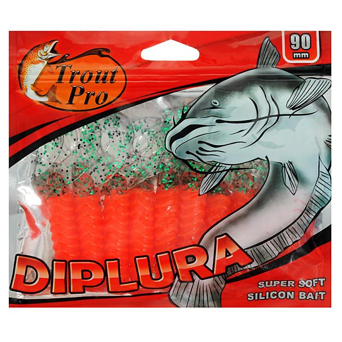 Твистер Trout Pro Diplura, длина 9 см, 10 шт. 35495