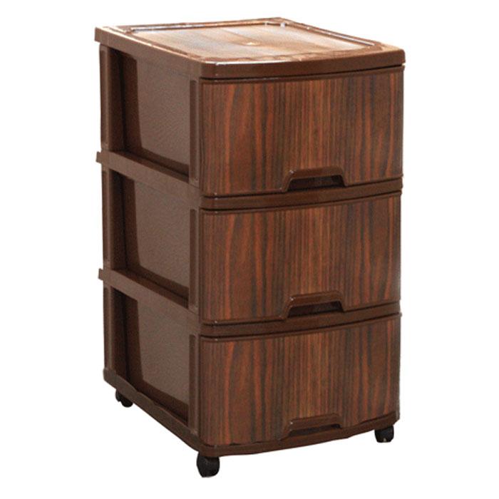 Комод Классик Деко. Дерево, цвет: коричневый, 3 секции74-0120Комод Классик Деко изготовлен из высококачественного пластика коричневого цвета. Ящики оформлены в виде коры дерева. Комод предназначен для хранения различных вещей и состоит из трех вместительных выдвижных секций. Такой необычный и яркий комод надежно защитит вещи от загрязнений, пыли и моли, а также позволит вам хранить их компактно и с удобством. Характеристики:Материал: пластик. Цвет: коричневый. Размер комода (Д х Ш х В): 48 см х 37,5 см х 70 см. Размер упаковки: 48 см х 38 см х 35 см. Производитель: Россия. Артикул: М2802.