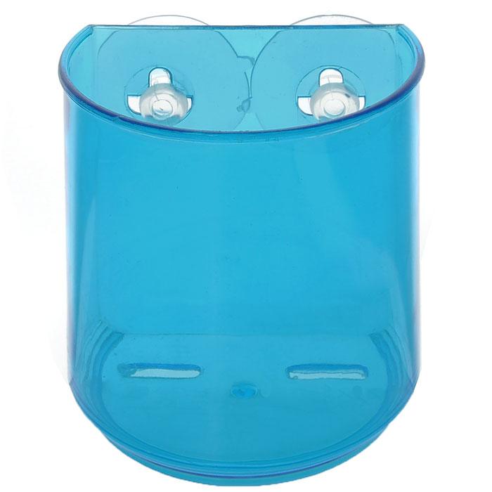 Держатель для зубных щеток LaSella, цвет: синий, 10 см х 7 см х 10 см12723Держатель LaSella изготовлен из пластика и предназначен для хранения зубных щеток. Он крепится к стене с помощью двух вакуумных присосок (входят в комплект), мгновенно одним нажатием. В случае необходимости держатель можно быстро перевесить. Никаких дырок и следов на поверхности не остается. Легко устанавливается на плитку, стекло, металл и прочие воздухонепроницаемые поверхности. Размер держателя: 10 см х 7 см х 10 см. Диаметр присоски: 5 см.