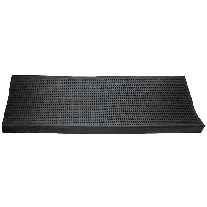 Коврик Vortex на ступеньку, цвет: черный, 25 см х 75 см20078Коврик Vortex изготовлен из прочной и долговечной резины. Он прекрасно очищает обувь благодаря резиновым шипам, в которых задерживается грязь и снег. Коврик Vortex надежно защитит помещение от уличной пыли и грязи. Характеристики:Материал:резина. Размер коврика:25 см х 75 см. Изготовитель:Индия. Артикул:20078.