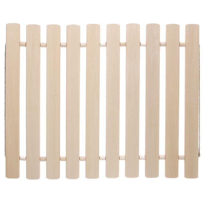 """Коврик для бани и сауны """"Банные штучки"""", деревянный, 40 см х 40 см"""