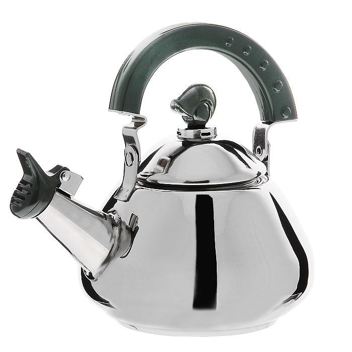 Чайник Mayer & Boch со свистком, цвет: серебристый, 1 л115510Чайник Mayer & Boch изготовлен из высококачественной нержавеющей стали с глянцевой полировкой. Он оснащен удобной пластиковой ручкой, а носик чайника с насадкой-свистком позволит вам контролировать процесс заваривания чая. Чайник оснащен сетчатым фильтром из нержавеющей стали. Он задерживает чаинки и предотвращает их попадание в чашку. Можно использовать на всех видах плит, включая индукционные. Можно мыть в посудомоечной машине. Характеристики:Материал:сталь. Цвет:серебристый. Объем:1 л. Диаметр основания чайника:9,5 см. Размер чайника (без учета ручки):14 см х 9 см 14 см. Длина ситечка:6,5 см. Размер упаковки:17 см х 15,5 см х 12 см. Производитель:Китай. Артикул:MB20140.