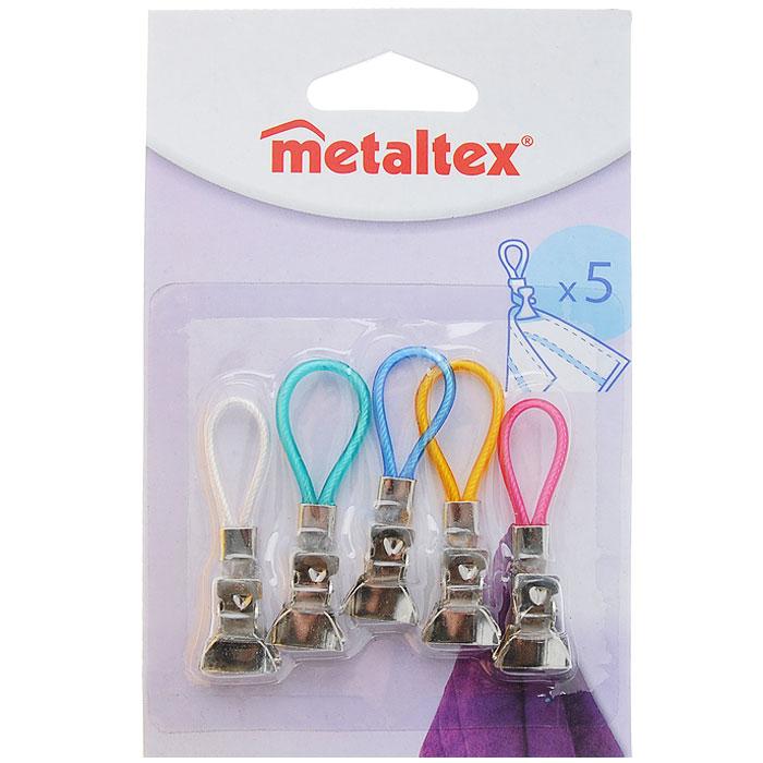 Набор зажимов для полотенца Metaltex, 5 шт68803Практичные зажимы для полотенец Metaltex выполнены из нержавеющей стали. Они прекрасно подойдут для подвешивания полотенец без петли. Зажим просто крепится к полотенцу, и вы можете повесить его в любом месте. Зажим надежно держит полотенце, не позволяя ему выскользнуть. Характеристики: Материал: нержавеющая сталь. Длина: 5,5 см. Количество: 5 шт. Производитель: Италия. Изготовитель: Китай. Артикул: 29.71.04.