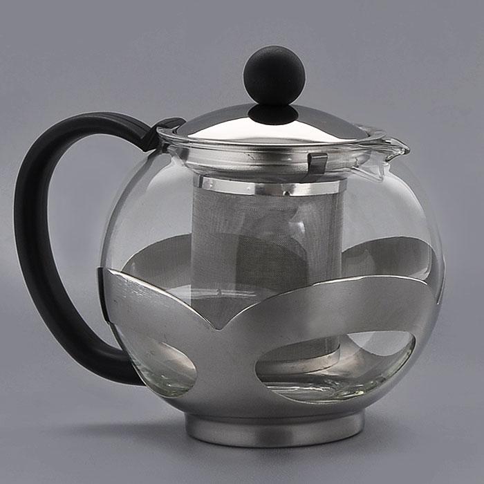 Чайник заварочный Gotoff, 1,2 л. 8250391602Заварочный чайник, выполненный из жаропрочного стекла и нержавеющей стали, практичный и простой в использовании. Он займет достойное место на вашей кухне и позволит вам заварить свежий, ароматный чай. Чайник оснащен сетчатым фильтром, который задерживает чаинки и предотвращает их попадание в чашку, а прозрачные стенки дадут возможность наблюдать за насыщением напитка. Заварочный чайник Gotoff послужит хорошим подарком для друзей и близких.Размер чайника (без ручки): 14 х 14 х 15 см.