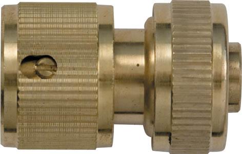Соединитель для шлангов FIT, латунный, 1/2. 77440106-026Соединитель FIT применяется для быстрого и надежного соединения гибкого шланга с любой насадкой поливочной системы. Совместим со всеми элементами аналогичной поливочной системы. Характеристики: Материал: латунь. Размеры прибора: 4,5 см х 3 см х 3 см. Размер упаковки:15 см х 10 см х 4 см.