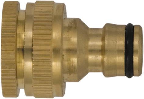Коннектор для кранов FIT с внешней резьбой, 1/2 - 3/4А00319Коннектор для кранов FIT предназначен для надежного и герметичного соединения заборного шланга с краном, как переходник между соединителем поливочной системы и трубой с внешней резьбой. Изделие имеет внутреннюю резьбу. Изготовлен из высококачественного материала, имеет длительный срок эксплуатации. Характеристики: Материал: латунь. Размеры насадки: 4 см x 3 см x 3 см. Размер упаковки: 8 см x 13 см x 3,5 см.