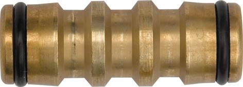 Переходник латунный Fit, 45 ммА00319Переходник латунный Fit применяется для быстрого монтажа 2-х участков шланга с соединителями на концах. Характеристики: Материал: латунь. Размер переходника: 45 мм х 15 мм х 15 мм. Размер в упаковке: 8 см х 13 см х 3 см.