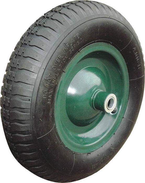 Колесо запасное для тачки FIT, 100 x 400 мм, 200 кг60902Колесо FIT является запасным элементом для тачки. Имеет резиновую шину и камеру, крашенный диск. Диаметр надувного колеса 100 x 400 мм. Шариковый стальной подшипник обеспечивает прочность и надежность конструкции. Грузоподъемность колеса составляет 200 кг. Характеристики: Материал: резина, металл. Грузоподъемность: 200 кг. Внутренний диаметр втулки: 16 мм. Размеры колеса: 40 см х 40 см х 10 см. Размер упаковки:40 см х 40 см х 10 см.