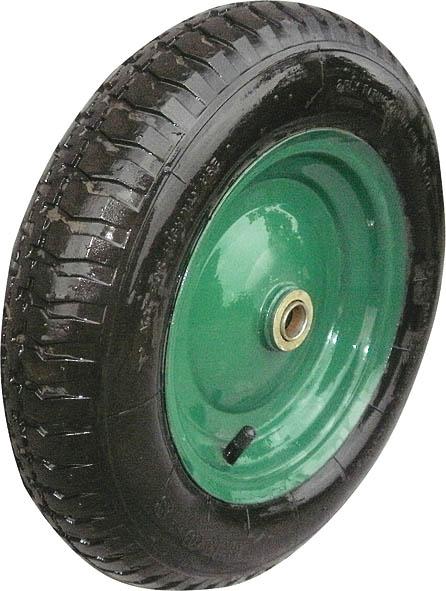 Колесо запасное для тачки FIT, 100 x 400 мм, 200 кг. 77562GC204/30Колесо FIT является запасным элементом для тачки. Имеет резиновую шину и камеру, крашенный диск. Диаметр надувного колеса 100 x 400 мм. Шариковый стальной подшипник обеспечивает прочность и надежность конструкции. Грузоподъемность колеса составляет 200 кг. Характеристики: Материал: резина, металл. Грузоподъемность: 200 кг. Размеры колеса: 40 см х 10 см х 10 см. Размер упаковки:40 см х 10 см х 10 см.