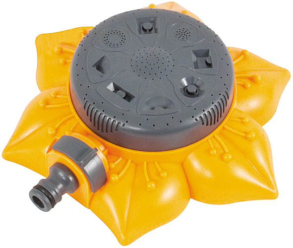 Распылитель пластиковый цветок FIT, 8 режимов. 776935904235000604Пластиковый распылитель цветок FIT применяется для орошения почвы. Распылитель присоединяется к шлангу при помощи соединителя поливочной системы. При помощи вращения поливочной головки распылителя осуществляется выбор режимов распыления. Характеристики: Материал: пластик. Размеры распылителя: 19 см x 19 см x 5 см. Размер упаковки: 18,5 см х 19,5 см х 6 см.