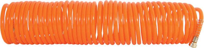 Шланг-удлинитель FIT, 10 м2.645-178.0Витой шланг-удлинитель FIT применяется для подачи воздуха к пневматическому инструменту. Изготовлен из полиуретана, отличается прочностью и удобством эксплуатации. Имеет два разъема с двух сторон с типом соединения байонет и  Быстросъем. Спиральное исполнение предотвращает перегибы и увеличивает удобство при использовании и хранении. Характеристики:Материал:пластик. Длина шланга:10 м. Диаметр шланга:7 мм. Размер шланга:1000 см x 0,7 см x 0,7 см. Размер упаковки:33,5 см x 8 см x 8,5 см.