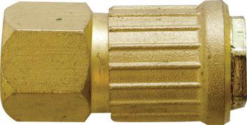 Адаптер быстросъемный FIT, М13 8115081150Адаптер быстросъемный с запорным клапаном FIT универсального типа предназначен для соединения с пневматической линией, инструментом, компрессором. Совместим с ниппелями всех типов. Характеристики: Материал: латунь. Внутренняя резьба: М13. Шаг резьбы: 1,5 мм Под ключ: S = 20 Размер: 2,5 см х 2,5 см х 5 см. Размер упаковки: 7 см х 2,5 см х 12 см